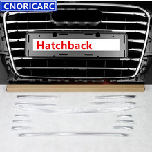 CNORICARC 12pcs Stainless Steel Cover Trim Strips Car Front Air Grille Decoration Sequins For Audi A3 2013-2016 Hatchback(China)