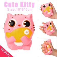 New 10CM Squishy Cat Anti stress toy Soft squeeze toy kids Squishy Slow Rising Kawaii Jumbo Bread Cake Scented Stretchy Toy Gift(China)