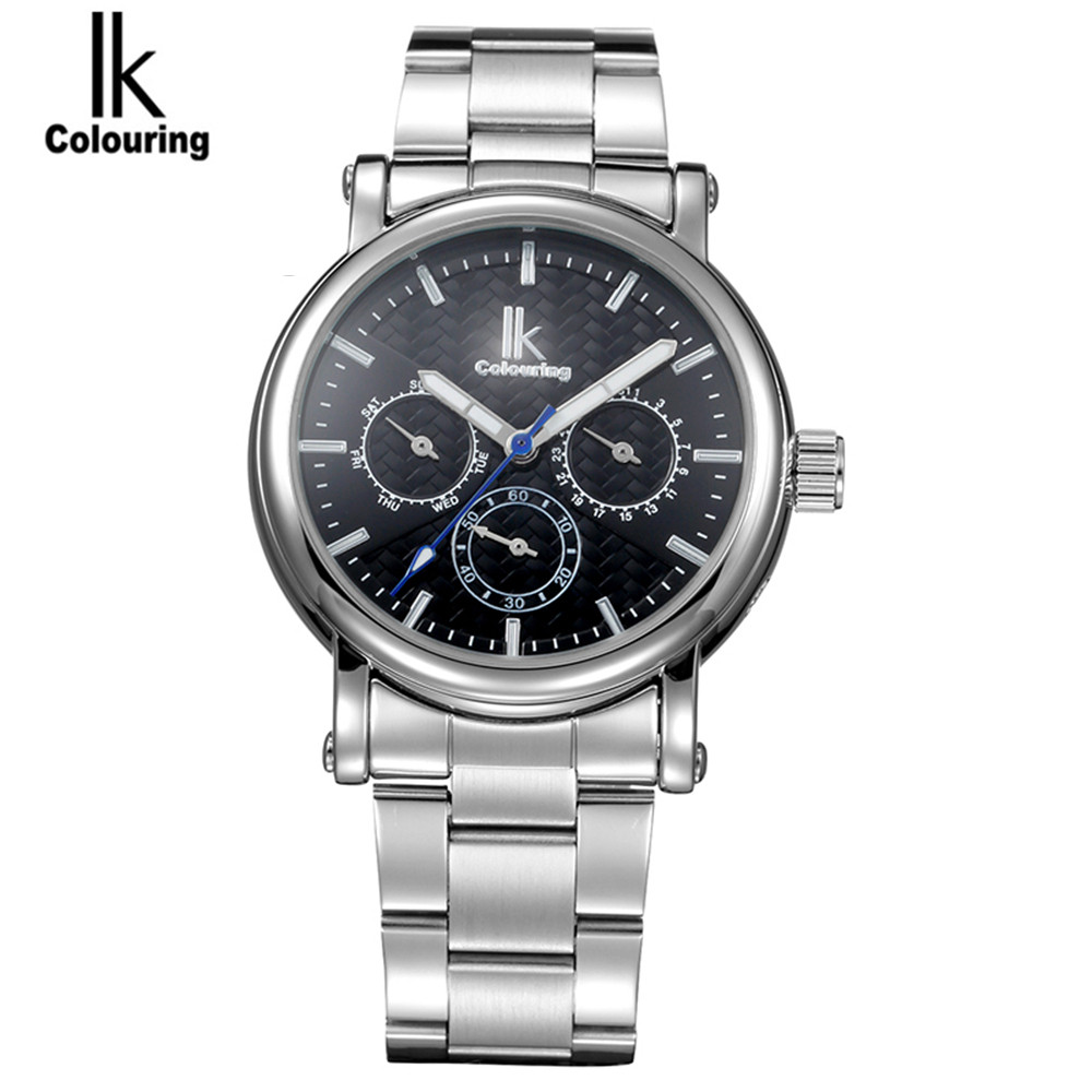 IK Mens Watches Top Brand Luxury Mens 6 Hands Day/Week Automatic Mechanical Watch Wristwatch Free Ship<br><br>Aliexpress