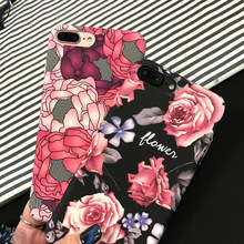SZYHOME Phone Cases Chinese Style Art Flowers for IPhone 6 6s 7 Plus Case Fashion for IPhone 7 Frosted Mobile Phone Cover Capa