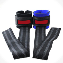 2pcs Non-Slip Thickened Gloves of Weight Lifting Gym Training Grip Barbell Bar Strap Wraps Hand Protect Wrist VES63 P25