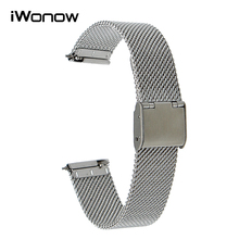 Milanese Quick Release Watch Band 16mm 18mm 20mm 22mm for CK DW Timex Armani Diesel Fossil Stainless Steel Strap Wrist Bracelet