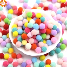 100PCS 10MM Multi Option Pompoms Soft Pom Poms Balls Handmade Craft DIY Home Garden&Wedding Decoration&Sewing Accessories Tools(China)