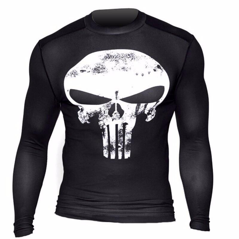 Marvel Gyms Clothing Fitness Compression Shirt Men Batman t-shirt men Long Sleeve 3D t shirt men Crossfit Tops tee shirt homme 44