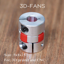 4pcs/lot 3D Printer Parts 5 mm to 8 mm CNC Motor Jaw Shaft Coupler Flexible Coupling Spider Flexible 5*8*25mm(China)