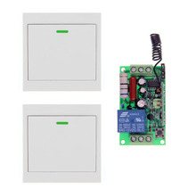 AC 220V 110V 1 CH 1CH RF Wireless Remote Control Switch System Receiver +2 X Wall Panel Transmitter,Toggle 315 433.92