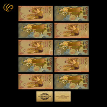 Wholesale New Style Colorful Gold Banknote 100 Baht Fake Money with Certificate Card for  Business Gift