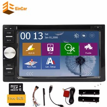 Car Autoradio double 2 Din Car DVD Player GPS Navigation 2 Din Car PC Stereo HeadUnit video+Free GPS Navigation+Steering wheel