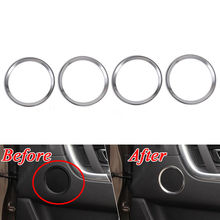 BBQ@FUKA 4pcs Car Door Speaker Audio Rings Cover Trim Frame Styling Sticker Fit For 2015-2016 Land Rover Discovery Sport(China)