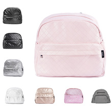 Diaper-Bag Backpacks Changing-Bag Plaid Waterproof Nurse Fashion Multifunctional PU