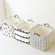 Upscale Home decoration Foldable Bathroom Dirty Clothes Laundry Storage Buckets box Bag Kids Toy Cotton Linen Storage Basket(China)