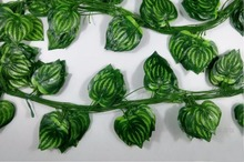 12pcs 7.8 feet Wired Watermelon Leaf Leaves Garland Ivy Silk Artificial Vine Greenery For Wedding Home Office Decoration(China)