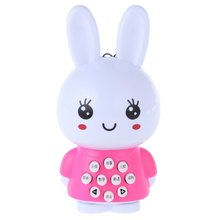 2016 Hot Selling Mini Rabbit Story Machine Teaching Machine Child Music Toy sleep Machine Light Learning Machine Educational Toy