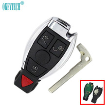 OkeyTech 433Mhz Mercedes Benz 2000 Smart Card Key Auto Remote Control Car Key 3+1 4 Button Insert Blade Free Shipping