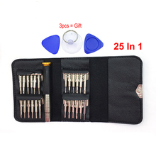 25Pcs / Set Wallet Precision Screwdriver Set Repair Tools Pentalobe Torx Slotted Philips for iPhone Watch Laptop Opening Tools