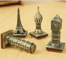 12pcs/lot  Vintage travel series stamp  gift metal stamp  Decorative DIY funny work