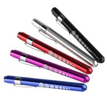 3Pcs/Lot Random Color Reusable LED Penlight Flashlights with Warm White Light / Pupil Gauge