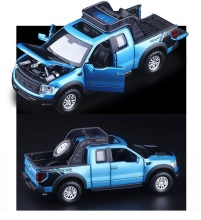 1:32 High Simulation Exquisite Model Toys: Double Horses Car StylingFord F150 Raptor Pickup Trucks Alloy Car Model Best Gifts