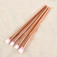 4pcs different size Nylon/plastic Rose gold Makeup Brushes Set for Foundation Powder Eyeshadow Eyeliner Lip Brush Tool hot sale(China)