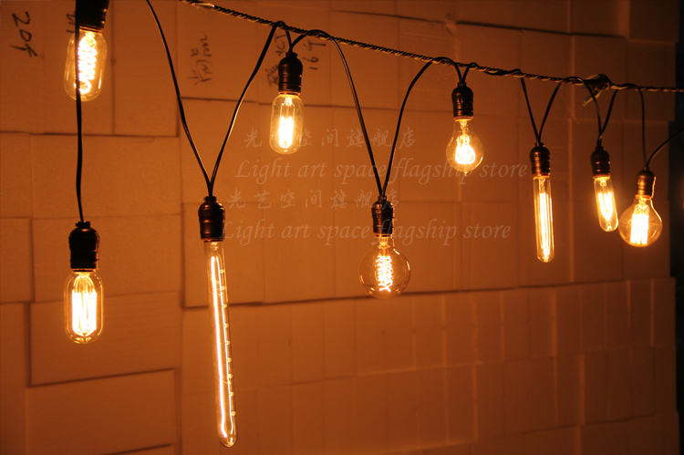Vintage Edison Light Bulb 10-Socket Meteor Shower Droplight (Bulbs Not Included)  Hotel Hallway Store Club Cafe Beside Coffee<br><br>Aliexpress