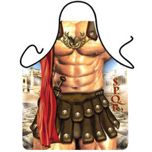 Novelty Cooking Kitchen Roman Soldier Print Sexy Apron Baking Present Pinafore Chef Funny cute kitchen aprons