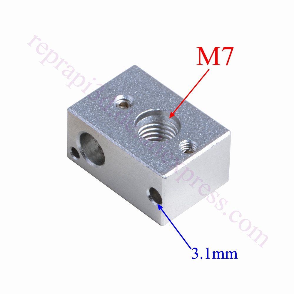 4pcs MK10 Heating Block M7 thread for FlashForge Creator Pro Wanhao 3D Printer