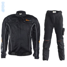 Motorcycle riding Jacket Oxford suit male spring summer racing suitcase car wear anti-slap wear knight Sets Jacket&Pants