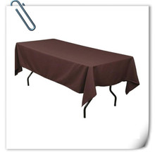 Big Discount  !!! 10pcs 150*320cm  Rectangle  Brown  table cloth 180GSM For Wedding Events &Hotel & Banquet Free shipping