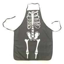 Halloween Apron Skull Vampire Decoration Holiday Party Costume Props Kitchen Polyester Apron Party Supplies novelty gift cosplay