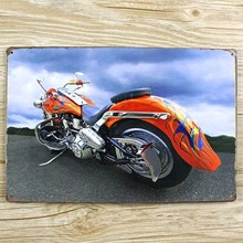 Motorcycle shop Metal Tin signs Retro wall decor bar home iron poster paintings Vintage plaque 20*30 CM free shipping YT-00374