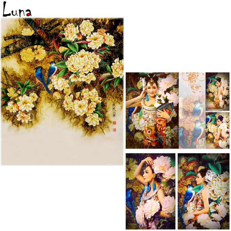 Chinoiserie Vinyl Background For Photo studio Floral Bird Personal portrait Oxford Backdrop For Photography Props<br><br>Aliexpress