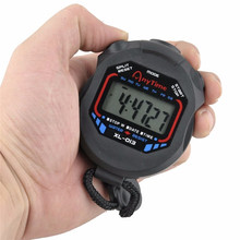 Classic Digital Professional Handheld LCD Chronograph Sports Stopwatch Timer Stop Watch with string 2017 new sale(China)