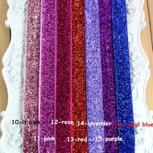 "200pcs/lot 26 Color 5/8"" Metallic Glitter Stretch Headband No Slip Wholesale Girls Christmas Hair Band DIY Hair Accessories HD20(China)"