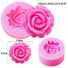 M087 3D Rose Chocolate Mold,Fondant Cake Decorating Tools,Silicone Soap Mold,Silicone Cake Mold