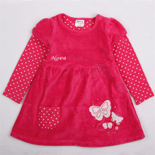 novatx H2005 casual wear baby girl clothes long sleeves children kids girl for beautiful party dress for free shipping