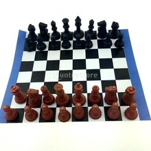 Chess Game Set International Chess wi/ 180mm Chessboard Table Game Toy