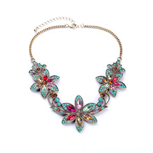 Bohemian Colorful Bead Chain Colares Flower Choker Necklace Candy Acrylic Stone Necklaces Perfume Women Fine Jewelry Accessorios(China)