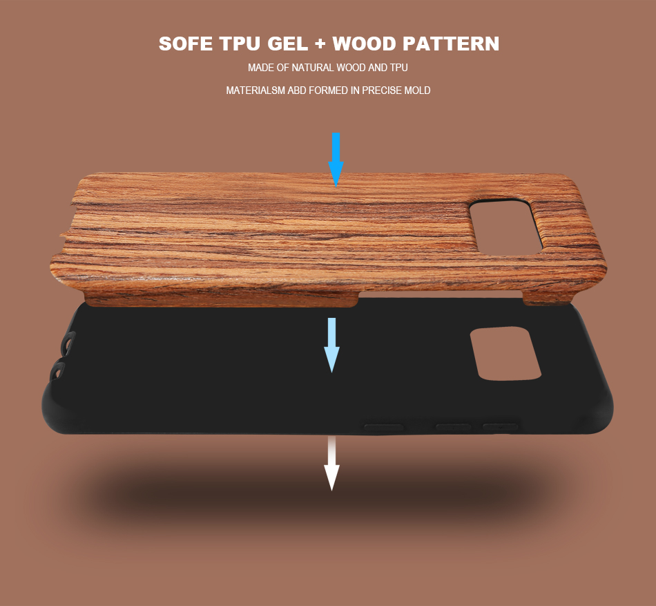 wood pattern soft tpu case for samsung s8 s8 plus (3)