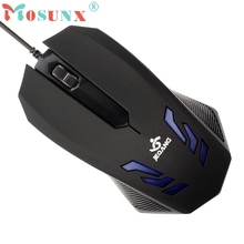 Beautiful Gift New Blue-ray 2000DPI USB Wired Gaming Optical Mouse for PC Computer Wholesale price Dec29 computer accessories