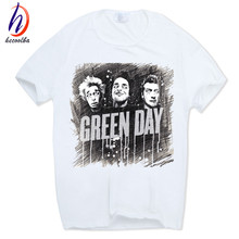 Hecoolba 2017 Men's Green day Punk Rock Group Graphic cool T-shirt Geek Short sleeve O-Neck Tshirt Hip Hop Homme T shirt HCP294