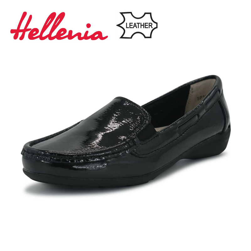 Hellenia Hot Sale Genuine Leather Women Shoes 2018 Fashion Casual soft Shoe Outdoor Shoes Female Driving Footwear Size  36 -41<br>