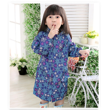 Folding Floral Dirt-proof 2-12 years old Kids Rain Poncho Hooded Raincoat For Children Waterproof Rain Coat Outdoor Rainwear(China)