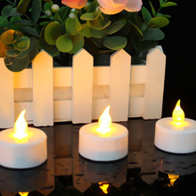 Newest LED Candle Flameless Flickering LED Tea Light Battery Candles Wedding Party Holiday Decoration