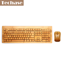Teclado Wireless Keyboard and Mouse Teclado e Mouse Sem Fio Klavye Mouse Set Computer Keyboard Wireless Bamboo Gaming Muis Combo(China)