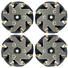 48mm steel Mecanum wheels set( 2 Left, 2 Right) / robot competition wheel(China)