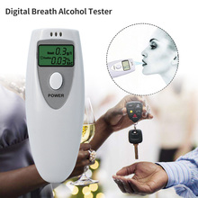 Digital Breath Alcohol Tester Professional Breathalyzer LCD display Alcohol Analyzer(China)