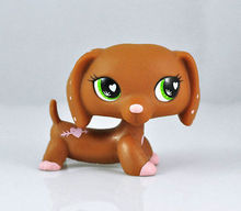 Pet Dachshund Dog Collection Child Girl Boy Figure Littlest Toy Loose LPS826(China)