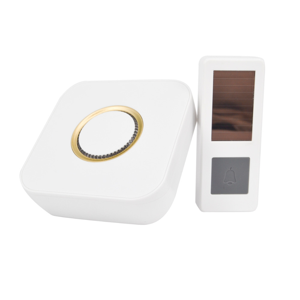04CTVMAN Wireless Doorbell Solar Powered Push Wireless Doorbell