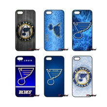 Painting St. Louis Blues Logo For iPod Touch iPhone 4 4S 5 5S 5C SE 6 6S 7 Plus Samung Galaxy A3 A5 J3 J5 J7 2016 2017 Case Capa(China)