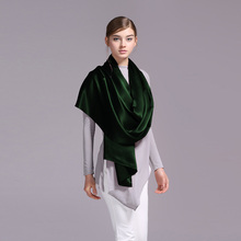 100% Silk Satin Long Scarf 55X180cm Pure Mulberry Silk Plain Color Silk Scarf Factory Direct Online Store 52 Dark Green(China)